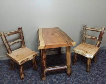 Kids Log Table and Chair set|Kids Activity Center