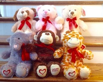 Large Personalized Plush Stuffed Animal-Valentine-Easter-Birthday-Gift