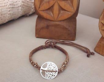 Tree of life bracelet macrame