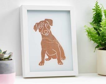 Metal Wall Art, Jack Russell, Dog Portrait, Pet Portrait, Metal Art, Unique Gift, Personalised Gift, Dog Lover Gift, Custom Pet Portrait