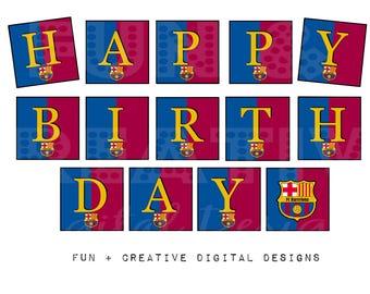 Barcelona Messi Inspired Birthday Printables Bundle