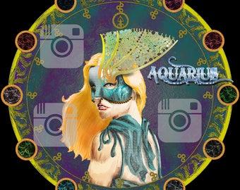 Aquarius (Zodiac Goddess) t-shirt