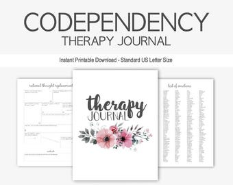 Therapy Journal for Codependency: Boundaries, Abuse, Mental Health, Depression, Anxiety, Eating Disorders, Borderline Personality, PTSD