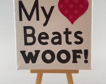 My Heart Beats Woof! Canvas