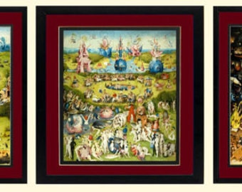 LARGE  Garden of Earthly Delights Art By Bosch 3 Framed Finest Quality Prints