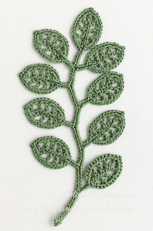 Crochet lace leaf diagrams download wiring diagrams irish crochet applique pattern branch crochet gift idea leaf rh etsystudio com ccuart Images