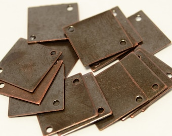 72 Pcs Copper Plated 13x13 mm Square Findings