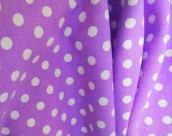 Knit Violet purple dots 1 yard. Excellent quality