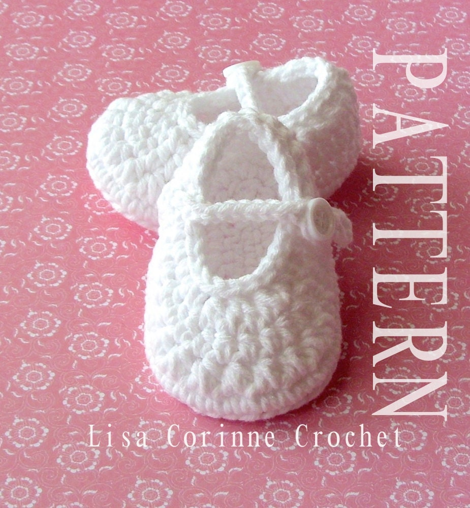 Crochet Baby Booties PATTERN, Crochet Baby Girl Shoes Pattern, Baby ...