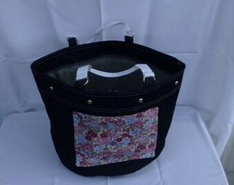 Denim Oversize Shopping Bag/Handbag/Tote/Grocery Bag/Market Bag/Fabric Bag/Toy Bag/Beachbag