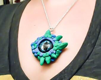 Dragon Eye Necklace - Dragon Eye Pendant - Dragon Jewelry - Fantasy Necklace - Geekery Gift - GOT Pendant- Dragon Necklace - Fantasy jewelry