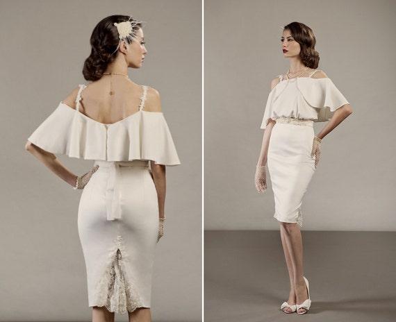 Items Similar To Veronica Short Two Piece Wedding Dress