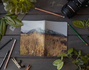 Laminate Notebook, Les Sierras Coll No 4730, Sketch Notebook, Writer's Notebook, Sierra Journal