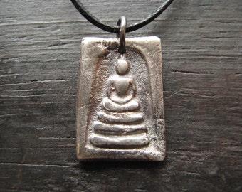 Silver Buddha Pendant