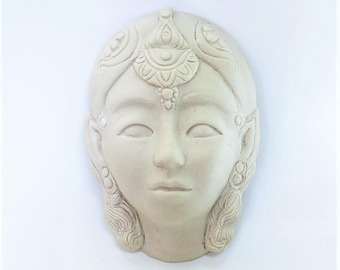 Face Sculpture Art Wall Hanging