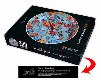 "Aquatica, 350 piece circular puzzle, 18"""