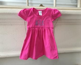 baby girl dress- toddler dress- personalized infant dress- monogram baby girl- custom dress- embroidered dress