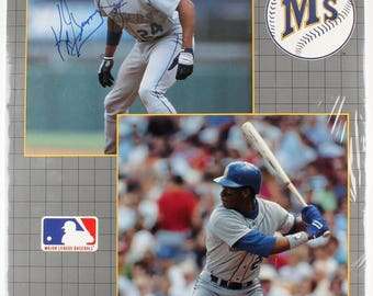 Ken Griffey Jr. Signed Vintage Seattle Mariners Sports Illustrated 22x34 Poster JSA
