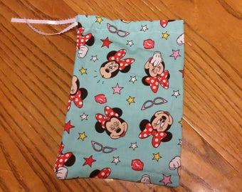 Minnie Mouse reusable gift bag/ dice bag/ travel bag