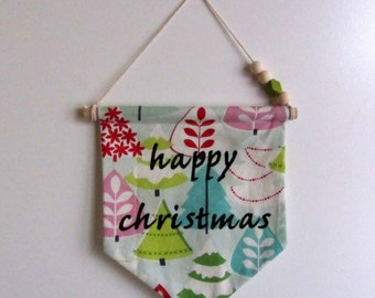 "Decorative banner ""Happy christmas"""