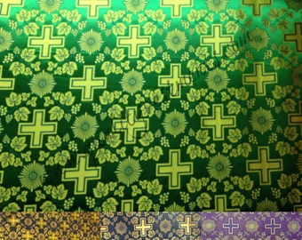 """Church Liturgical Rayon Vestment, width is 2 meters (79""""), available in many colors"""