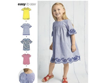 Simplicity Pattern 8619 Child's Easy to Sew Dresses. Size 3-8. Pattern is new and Uncut.