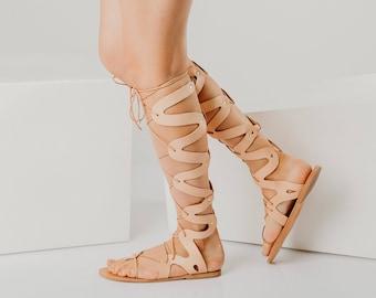 wrap up flat sandals,greek gladiator,lace women sandals,tie up gladiators,knee high sandals,greek lace up sandal,leather gladiators