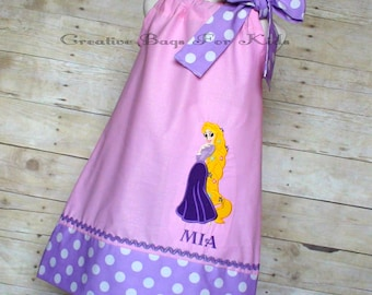 Rapunzel Dress/ Personalized Rapunzel Dress/ Tangled outfit (matching bag available)