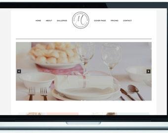 Modern WordPress Template - Mobile Responsive Design - logo center the menu theme, Logo split Theme, Photography template, wedding template