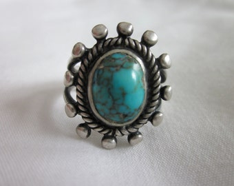 Lovely Native American Single-Stone Ring