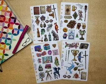 Wizarding School Happenings Inspired Deco Stickers, Planner Stickers, Filofax, Kikki-K, Erin Condren, Happy Planner, UK