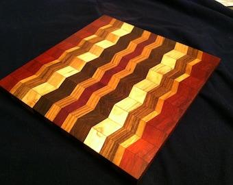 Beautifully Handcrafted Zig Zag Chevron Cutting Board