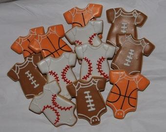sports onesies cookies