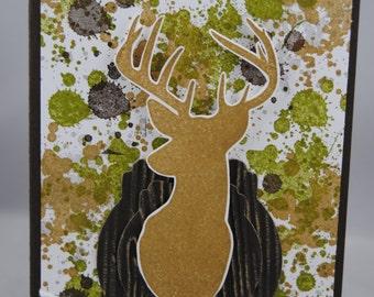 Camo birthday card etsy handcrafted camo big buck deer hunting birthday card bookmarktalkfo Image collections
