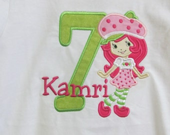 Strawberry Shortcake Birthday Shirt Fast Shipping*****Please Read Shop Announcement*****