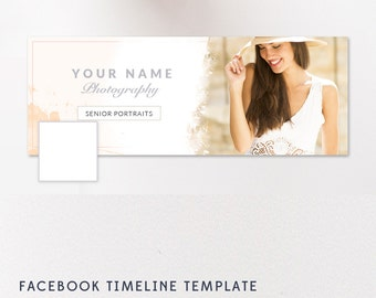 Facebook Timeline Template, Senior Marketing, Photographer Templates, Grad Sessions, Senior Sessions - INSTANT DOWNLOAD