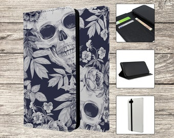 Skulls and Flowers Full Flip Case For Apple iPhone (S491)