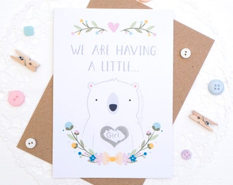 Gender Reveal Card - Baby Announcement Card - Gender Announcement Scratchcard - New Baby Card - Baby Reveal - Card for Twins