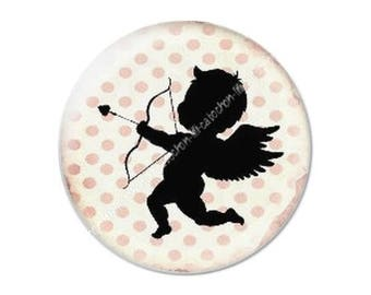 resin cabochon mounted on a stick 25 mm Valentine Cupid 11