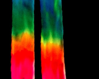 Tie Dye Thigh High Socks