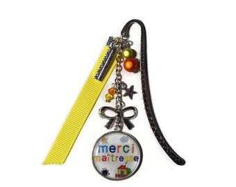 """""""Thank you teacher"""" teacher bookmark, teacher gift, teacher thank you"""
