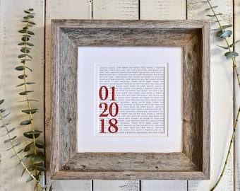 Custom Anniversary Gift | Custom Anniversary Gift For Him | Custom Anniversary Gift For Her | Custom Anniversary Gift for Couples