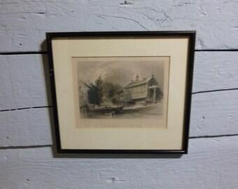 Mills at Sherbrooke Quebec, William Bartlett Print
