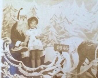 Scary Santa Claus Christmas RPPC Real Photo Postcard