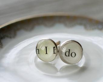 Groom Cufflinks, I Do Cufflinks, Cuff Links for Groom, Gift for Groom, Wedding Cufflinks, Engagement Gifts for Him