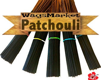 Patchouli Incense, 100 Hand Dipped - Hand Made Incense Sticks - Pure, True & Aged Patchouli Oil, Free Shipping in US.