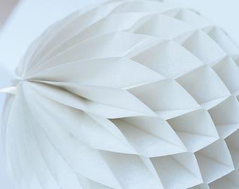 Leche de almendras papel nido de abeja de bola - colgante boda fiesta decoraciones - decoración infantil - cumpleaños partido partido pastel decoración