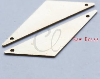 10pcs Raw Brass Triangle Link - 40x12mm (1992C-F-508)