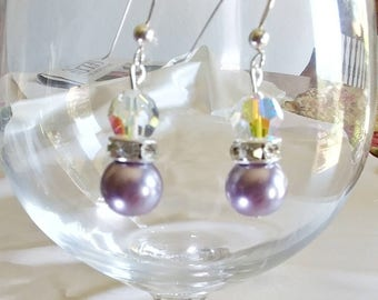 Lavender Pearl Sterling earrings.