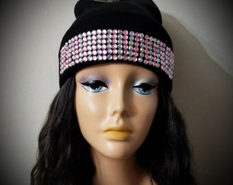 Bling out beanie hat